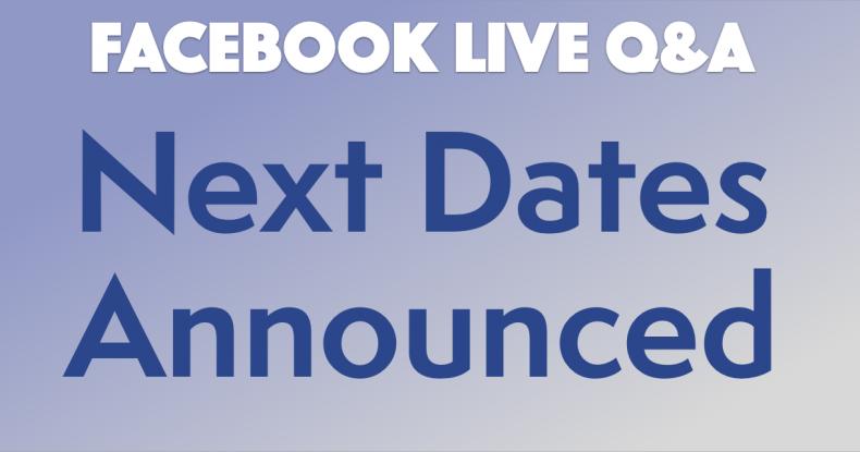 FB Live Dates